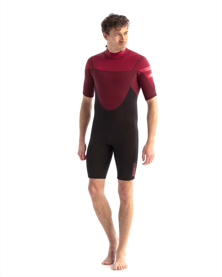 Jobe Perth 3/2mm Men's Shorty Wetsuit, L Black Red 2021