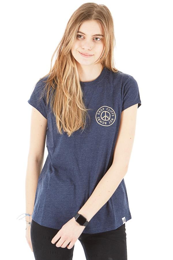 Planks Peace Tee Women's Short Sleeve T-Shirt, L Navy
