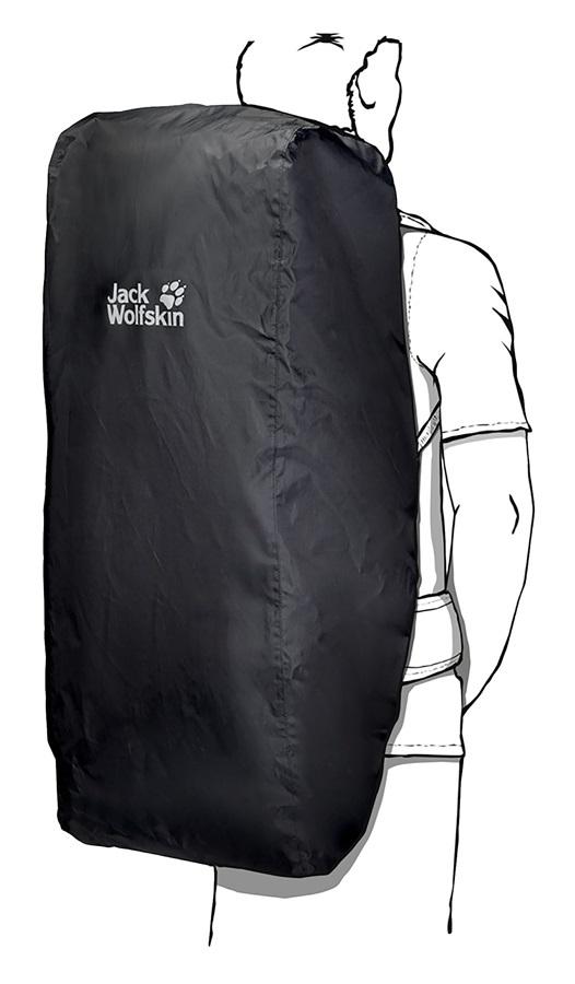 Jack Wolfskin Transporter 2in1 Backpack & Duffel Bag Rain Cover, Black