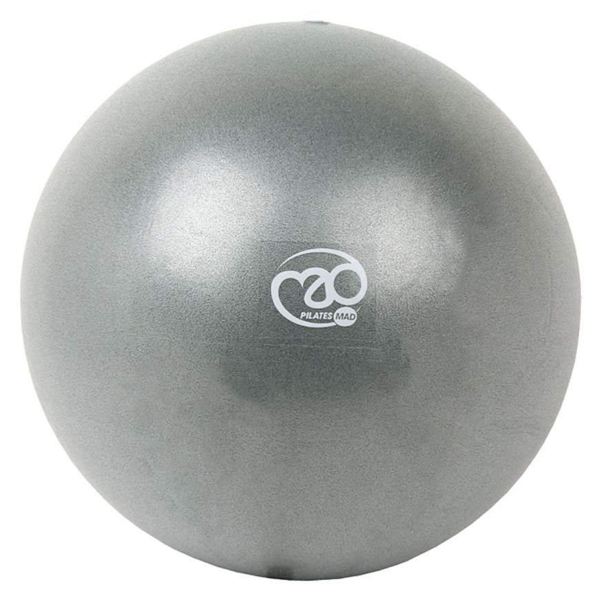 """Pilates Mad Exer-Soft Pilates Exercise Ball, 12"""" Silver"""