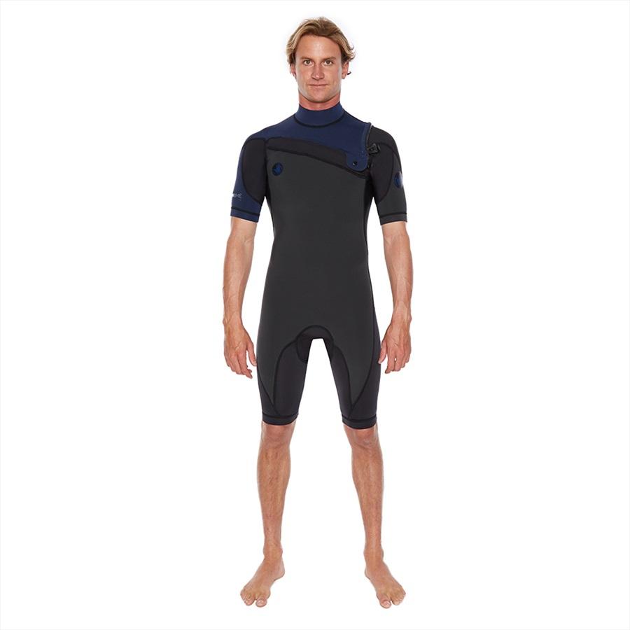 Body Glove Prime 2/2 Slant Zip Shorty Spring Surfing Wetsuit, M Navy