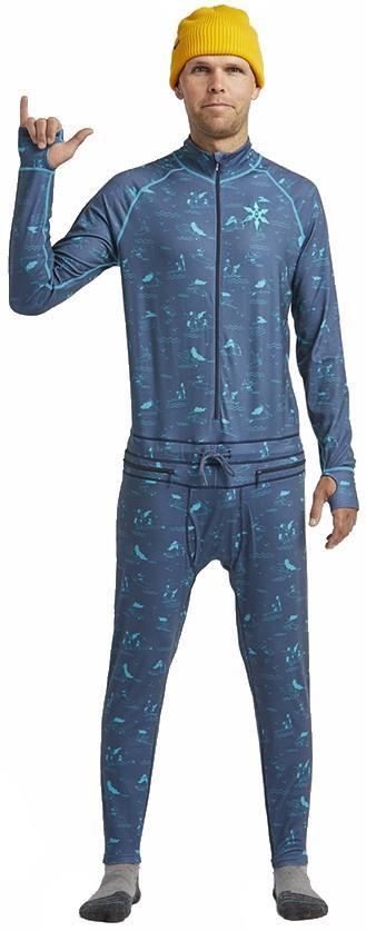 Airblaster Hoodless Ninja Suit Thermal Base Layer, S HE Navy