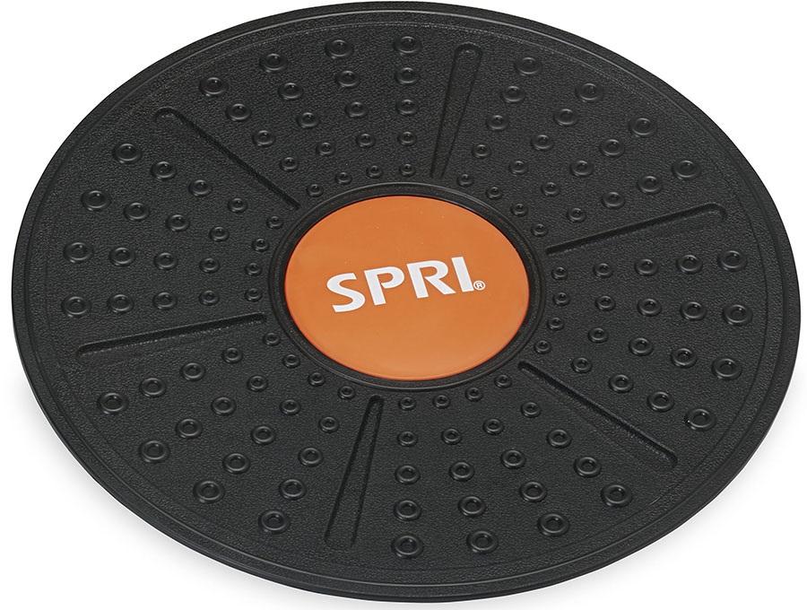 "SPRI Wobble Balance Board, 14"" Black/Orange"