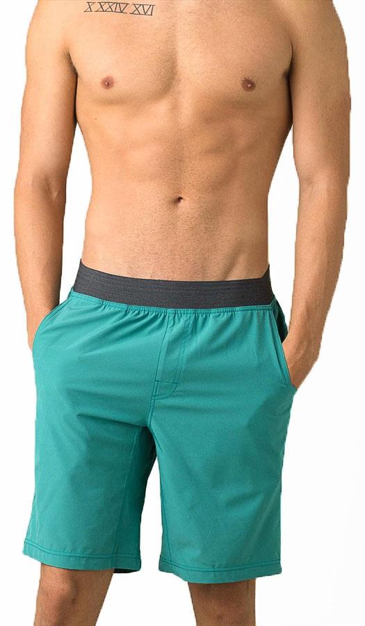Prana Super Mojo II Yoga/Climbing Shorts, L Retro Teal