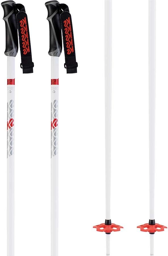 K2 Freeride 18 Ski Poles, 130cm White