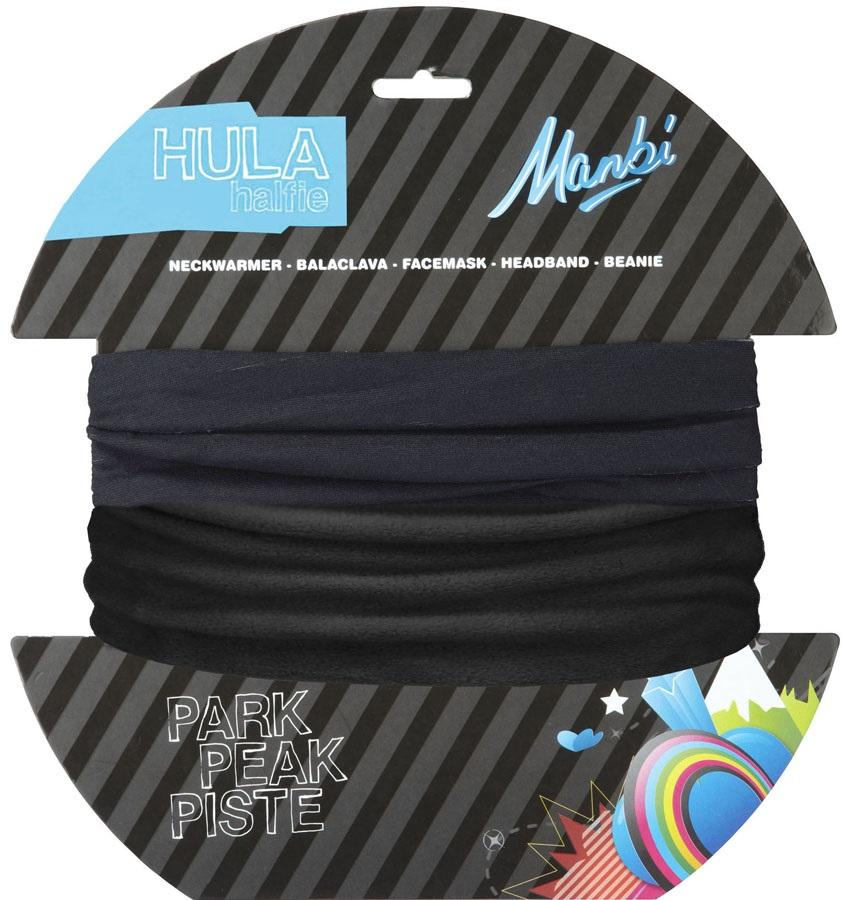 Manbi Hula Halfie Plain Thermal Neck Tube, Black