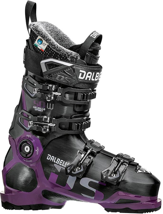 Dalbello DS 90 W Women's Ski Boots, 24.5 Black/Grape 2019