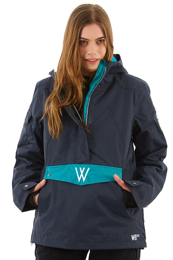 Westbeach Melody Women's Overhead Anorak Jacket, XS Steel
