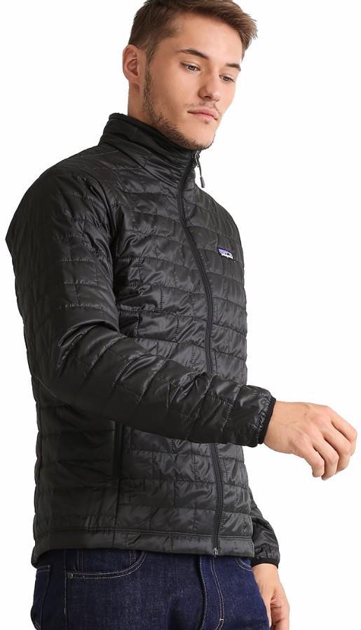 Patagonia Nano Puff Jacket Prima Loft Insulated L Black Charcoal