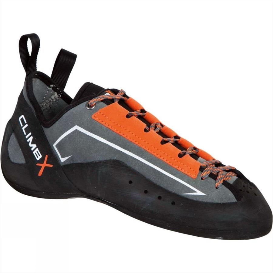 Climb X Crush Lace Rock Climbing Shoes UK 4 | EU 37 Orange/Grey