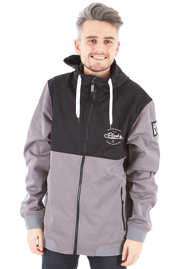 Planks Reunion Soft Shell Ski/Snowboard Jacket, M Sports Grey 2020