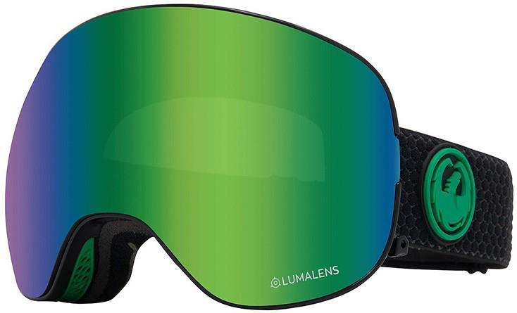 Dragon X2 LumaLens Green Ion Snowboard/Ski Goggles, L Split