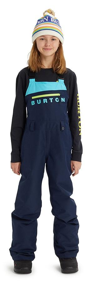Burton Child Unisex Stark Gore-Tex Pants Kid's Snowboard/Ski Bib Pants, M Dress Blue