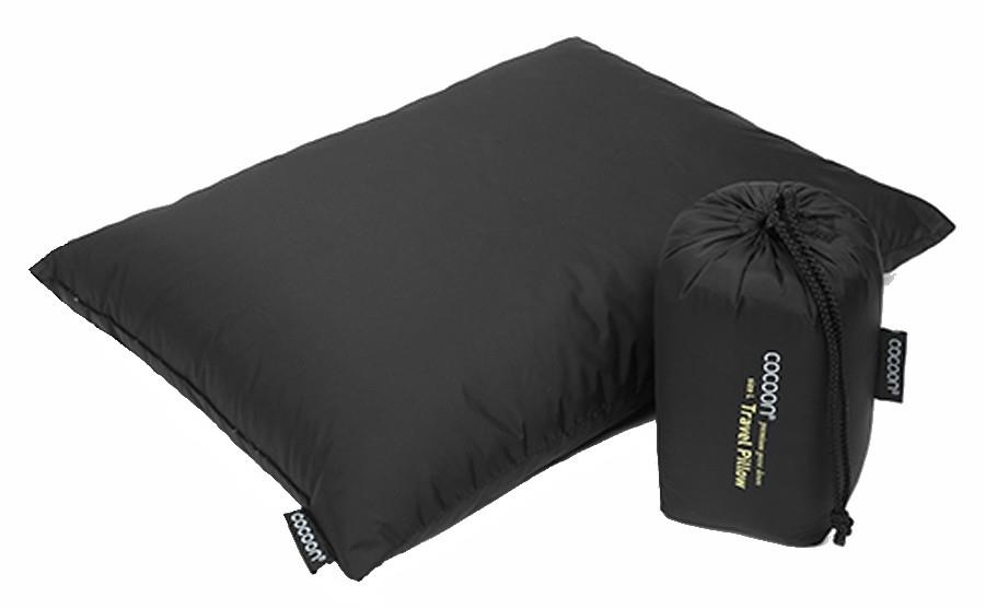 Cocoon Down Travel Pillow Compact Carry-On Pillow, L Charcoal