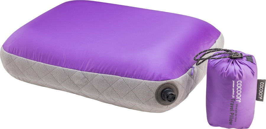 Cocoon Air Core Pillow Ultralight Inflatable Carry-On Pillow, S Purple