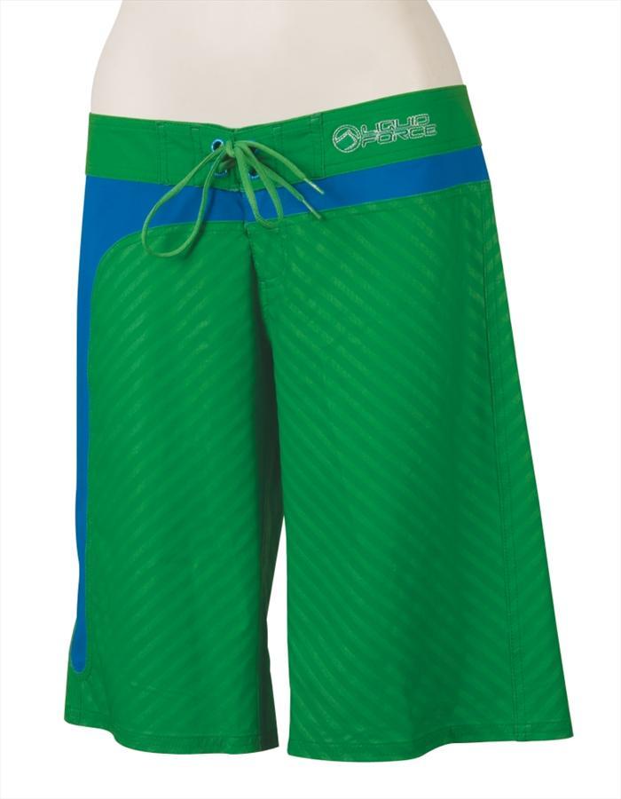 Liquid Force Drop In Ladies' Board Shorts, UK 8-10, Euro 36-38 Green