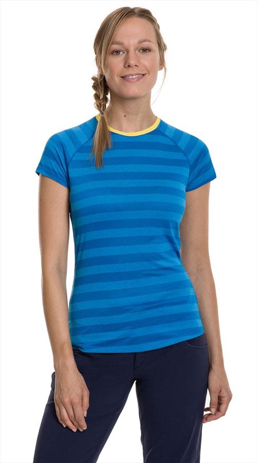 Berghaus Stripe Tee 2.0 Women's Short Sleeve T-Shirt, UK 12 Blue