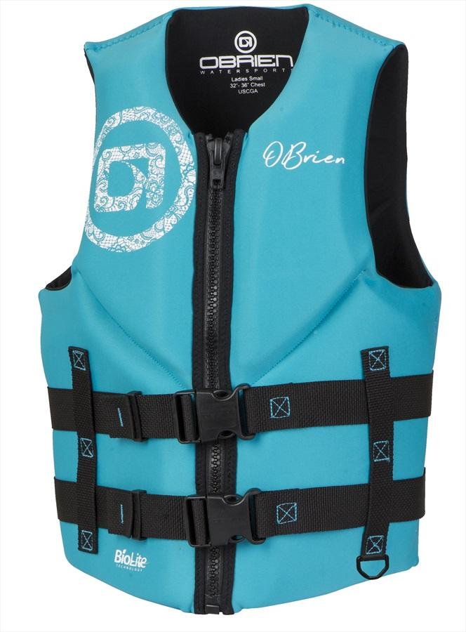 O'Brien Ladies Traditional Biolite Buoyancy Aid / Vest, XS Aqua