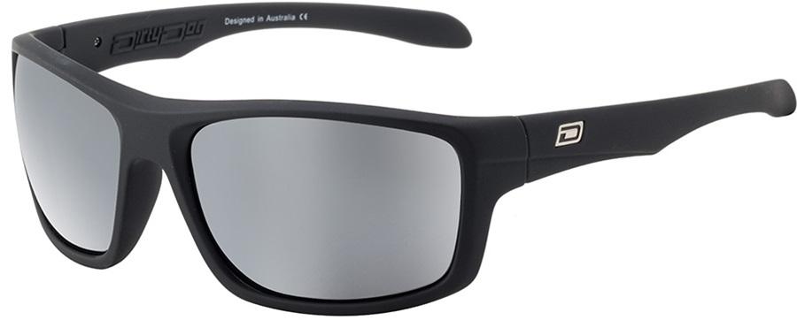 Dirty Dog Axle Grey Mirror Polarized Sunglasses, Satin Black
