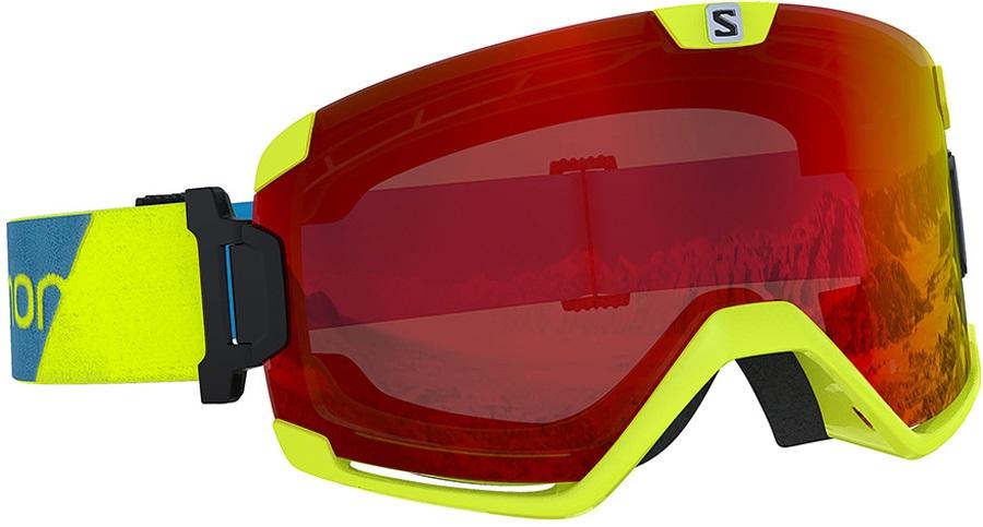 Salomon Cosmic Mid Red Snowboard/Ski Goggles, M/L Neon Yellow