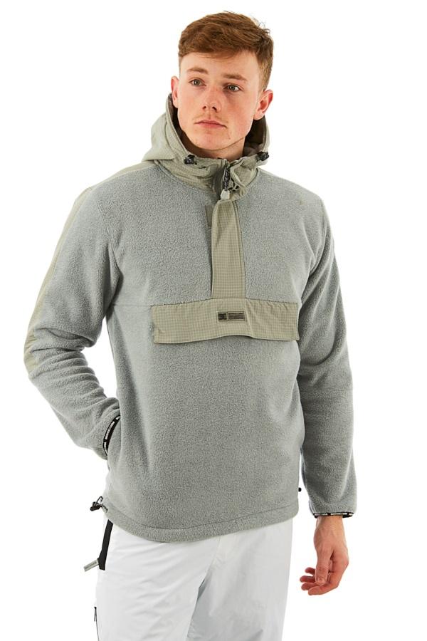 DC Shoreditch Pullover Ski/Snowboard Tech Hoodie, L Neutral Grey
