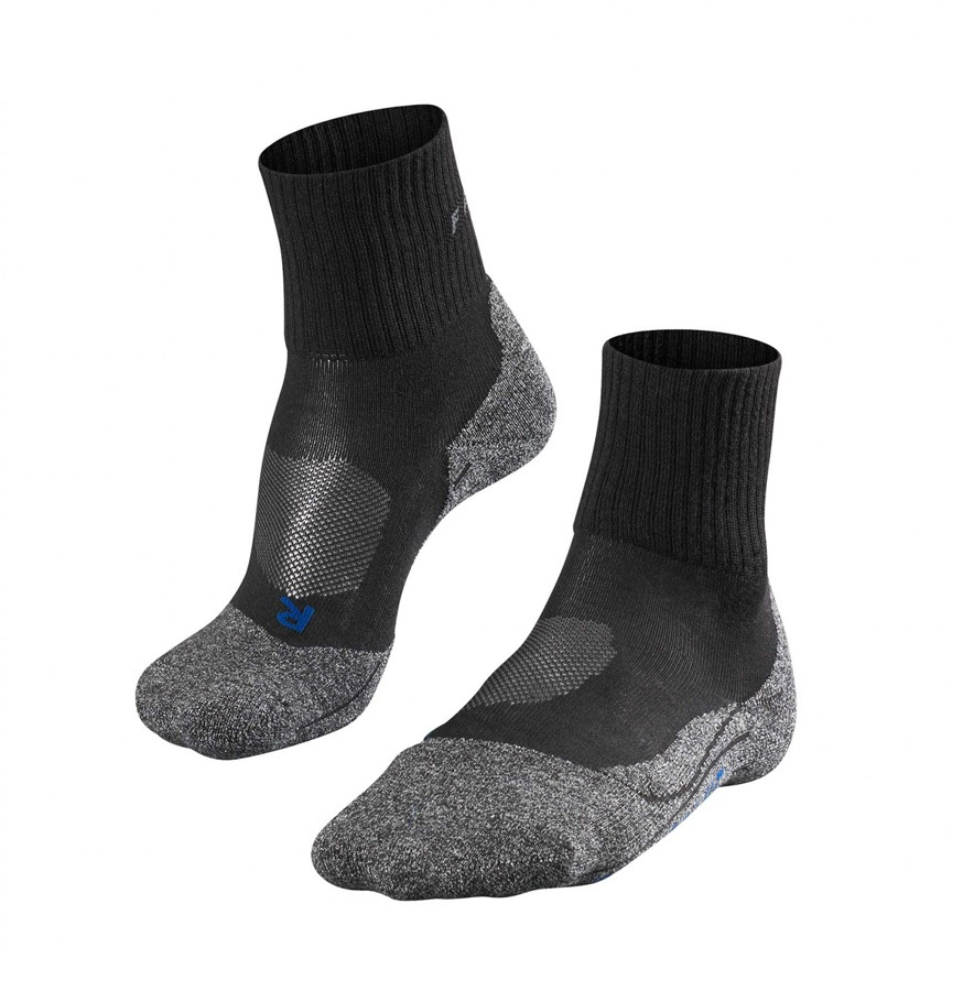 Falke TK2 Short Cool Men's Hiking/Walking Socks UK 8-9 Black-Mix
