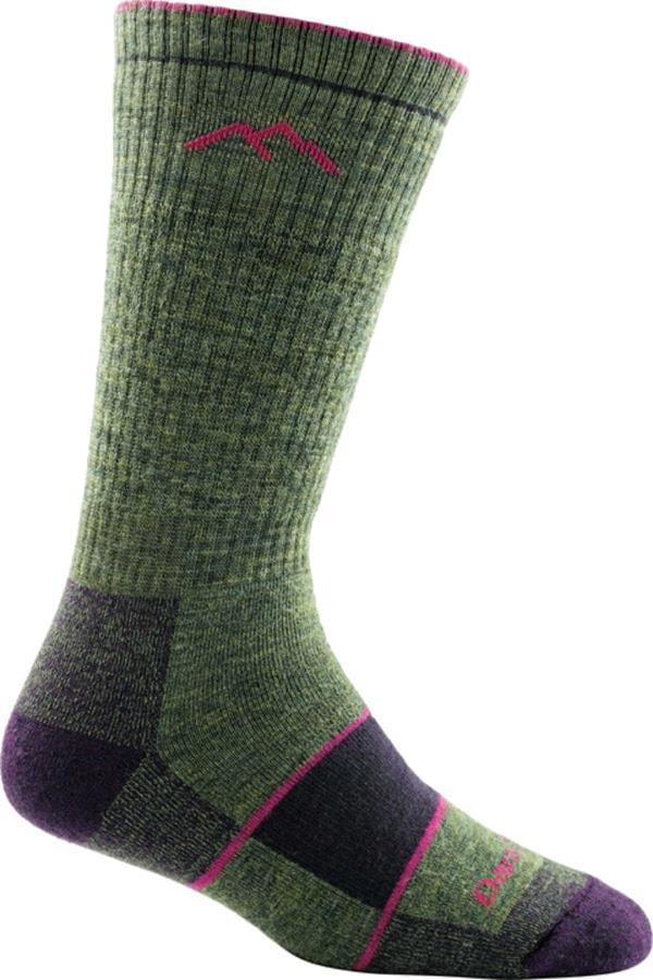 Darn Tough Womens Hiker Boot Full Cushion Women's Hiking Socks, M Moss