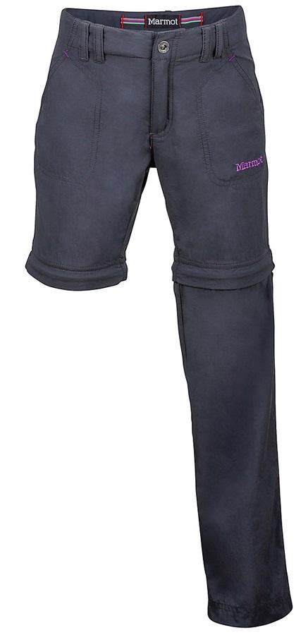 "Marmot Lobo's Convertible Pant Girl's Trouser Shorts, 23"" Dark Steel"
