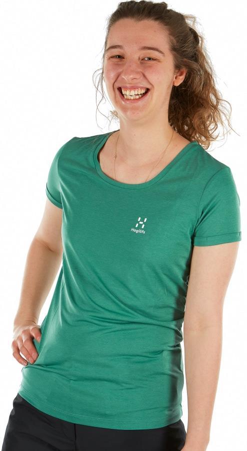 Haglofs Ridge Hike Women's Quick Drying T-Shirt, UK 10 Trail Green