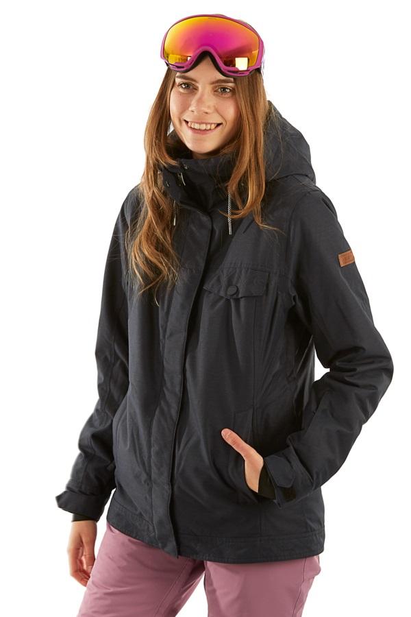 Roxy Billie Women's Snowboard/Ski Jacket, L True Black
