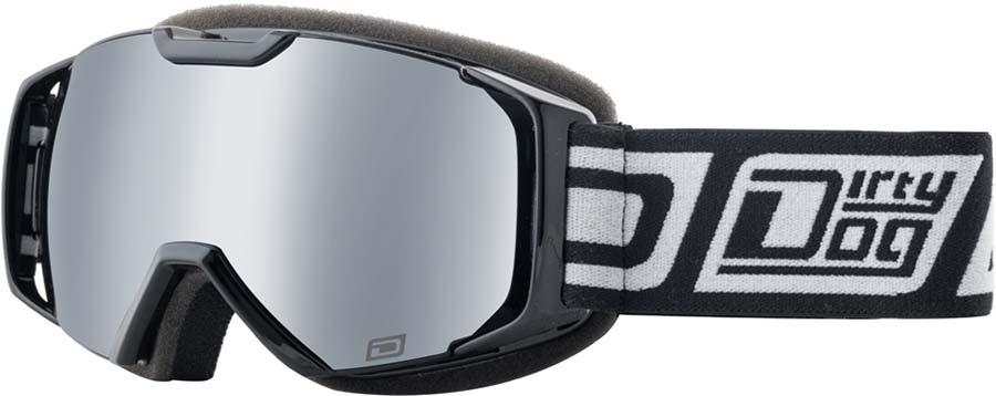 Dirty Dog Velocity Junior Silver Kids' Snow Goggles S Black