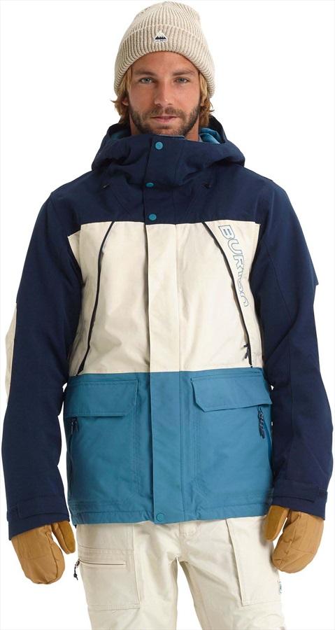 Burton Breach Ski/Snowboard Jacket, M Dress Blue/Almond/Storm Blue