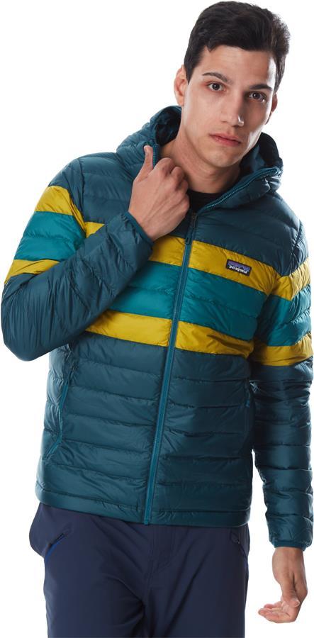 Patagonia Down Sweater Hoody Insulated Jacket, S Dark Borealis Green