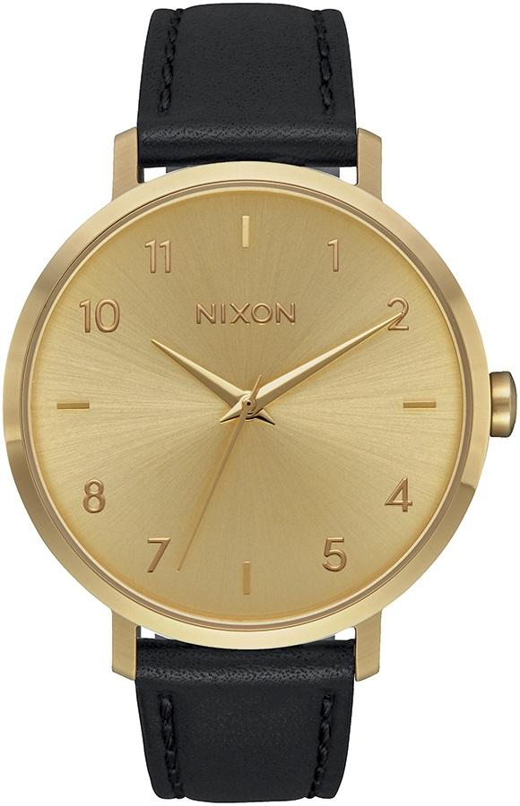 Nixon Arrow Leather Women's Watch, All Gold/Black