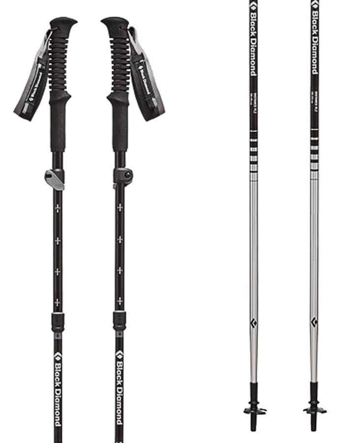 Black Diamond Distance FLZ Folding Trekking Poles 95-110cm, Ice