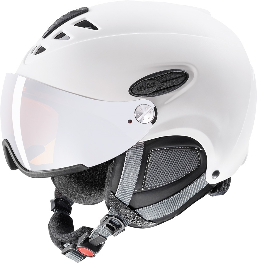 UVEX Hlmt 300 Ski/Snowboard Visor Helmet, XL Matte White