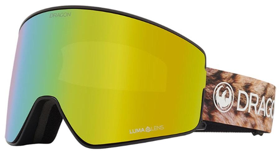 Dragon PXV2 LumaLens Gold Ion Snowboard/Ski Goggles, M/L Lynxxx