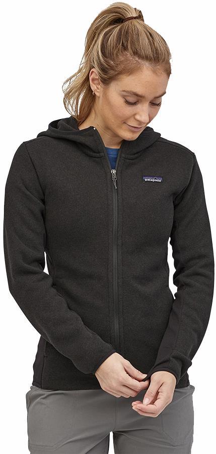 Patagonia LW Better Sweater Womens Fleece Hooded Jacket UK 12 Black