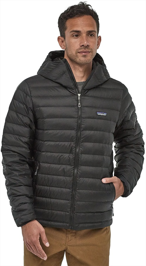 Patagonia Down Sweater Hoody Insulated Hooded Jacket, XL Black
