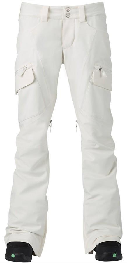 Burton Gloria Women's Ski/Snowboard Pants, M Stout White