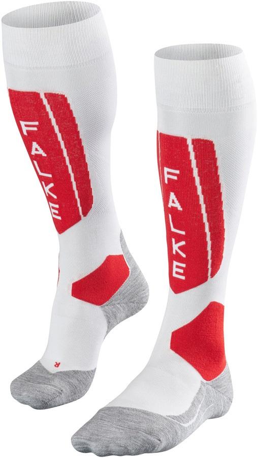 Falke SK5 Merino Wool Women's Ski Socks, UK 2.5-3.5 White