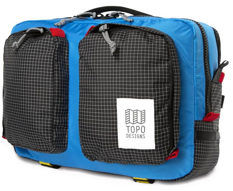 Topo Designs Global Briefcase Daypack/Rucksack, Blue/Black Ripstop