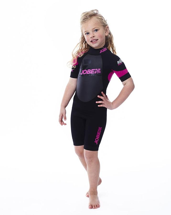 Jobe Progress Rebel 2.5/2 Kids Shorty Wetsuit, M Black Pink