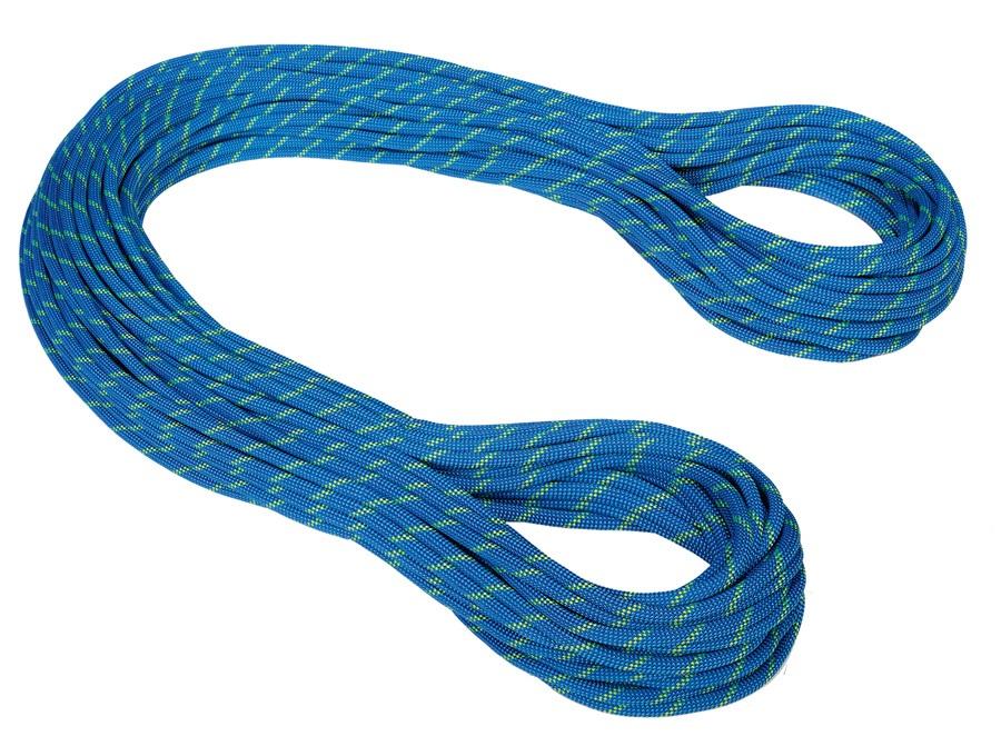 Mammut Twilight Dry Rock Climbing Rope, 50m x 7.5mm Neon Blue