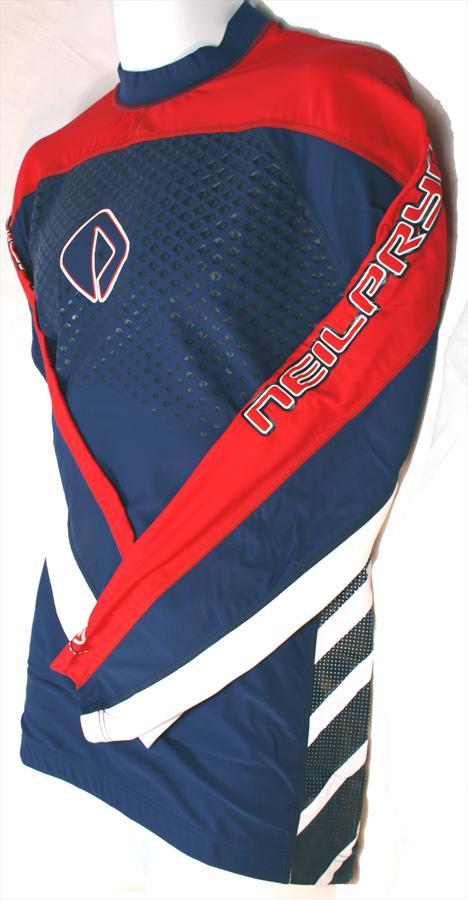 NPX 3000 Rash Vest Long Sleeve, X Small, Red Blue