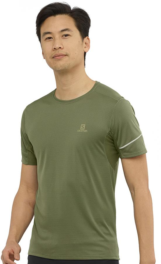 Salomon Men's Agile Short Sleeve Running T-shirt S Olive Night
