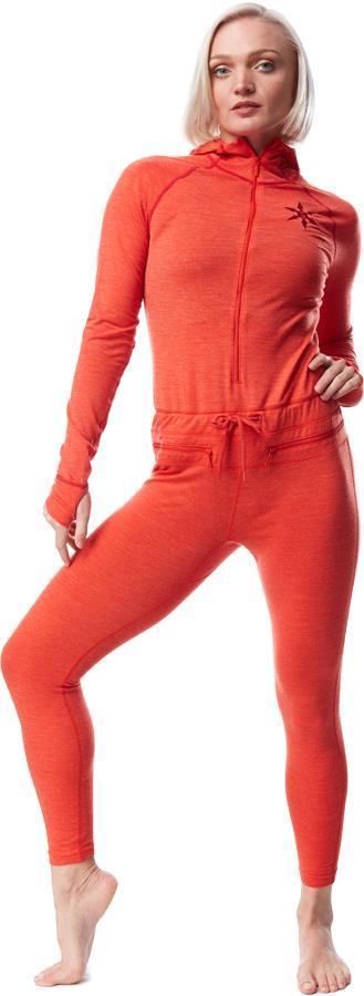 Airblaster Womens Womens Merino Ninja Thermal Base Layer Suit, S Fire