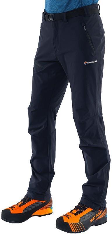 Montane Terra Route Regular Soft Shell Walking Trousers, M Black
