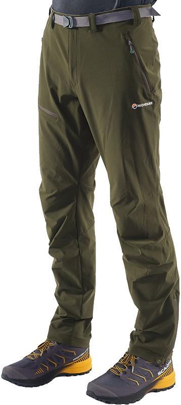 Montane Terra Route Regular Soft Shell Walking Trousers, L Oak Green