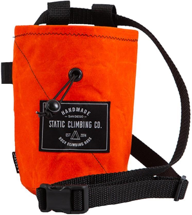 Static Waxed Canvas Rock Climbing Chalk Bag :Hunter Orange